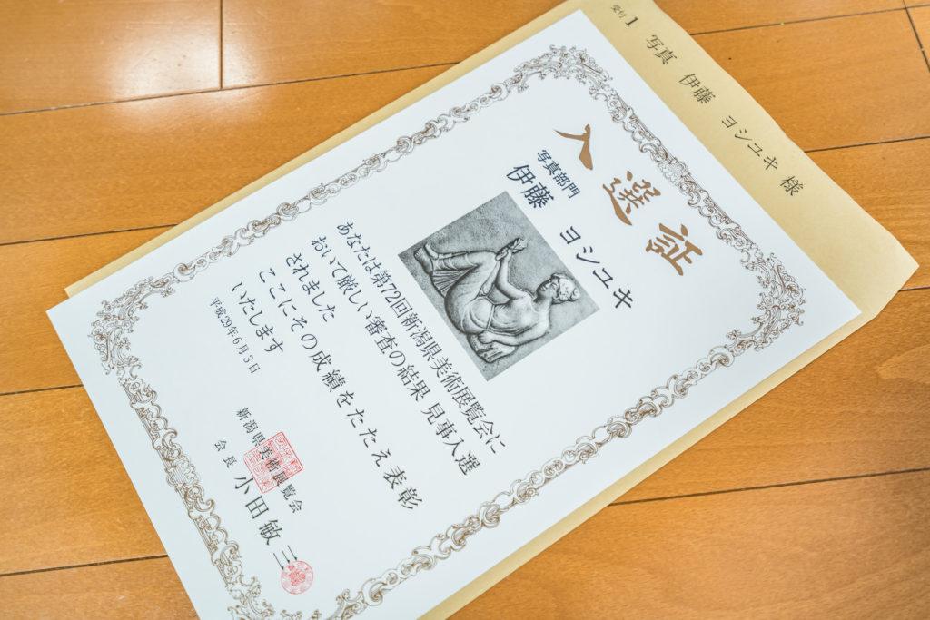 新潟県美術展覧会(県展)入選
