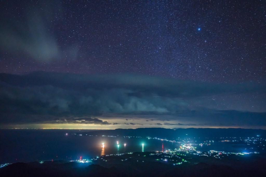 佐渡 ドンデン山 夜景