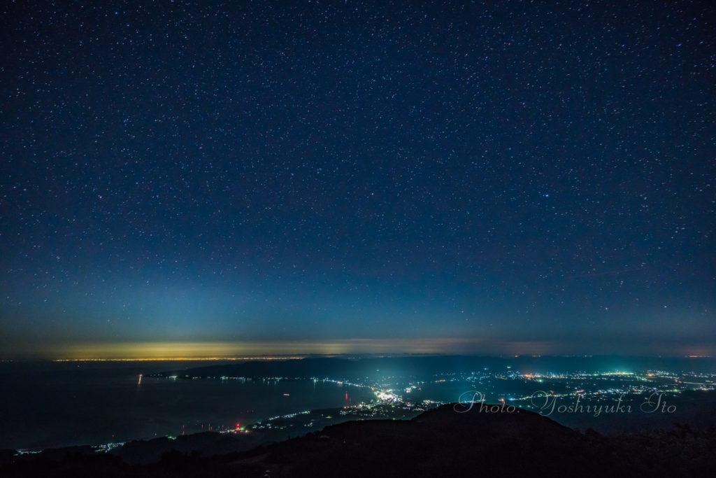 ドンデン山荘からの夜景