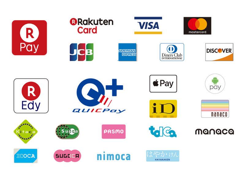 電子マネー、カード支払い
