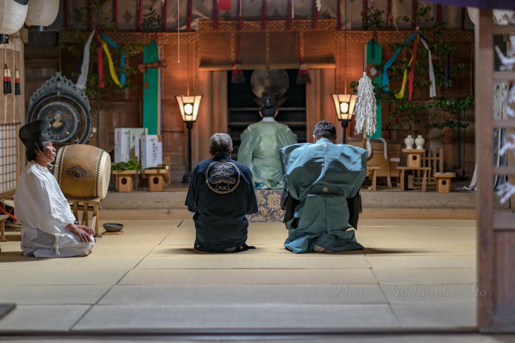 牛尾神社例祭宵宮奉納薪能