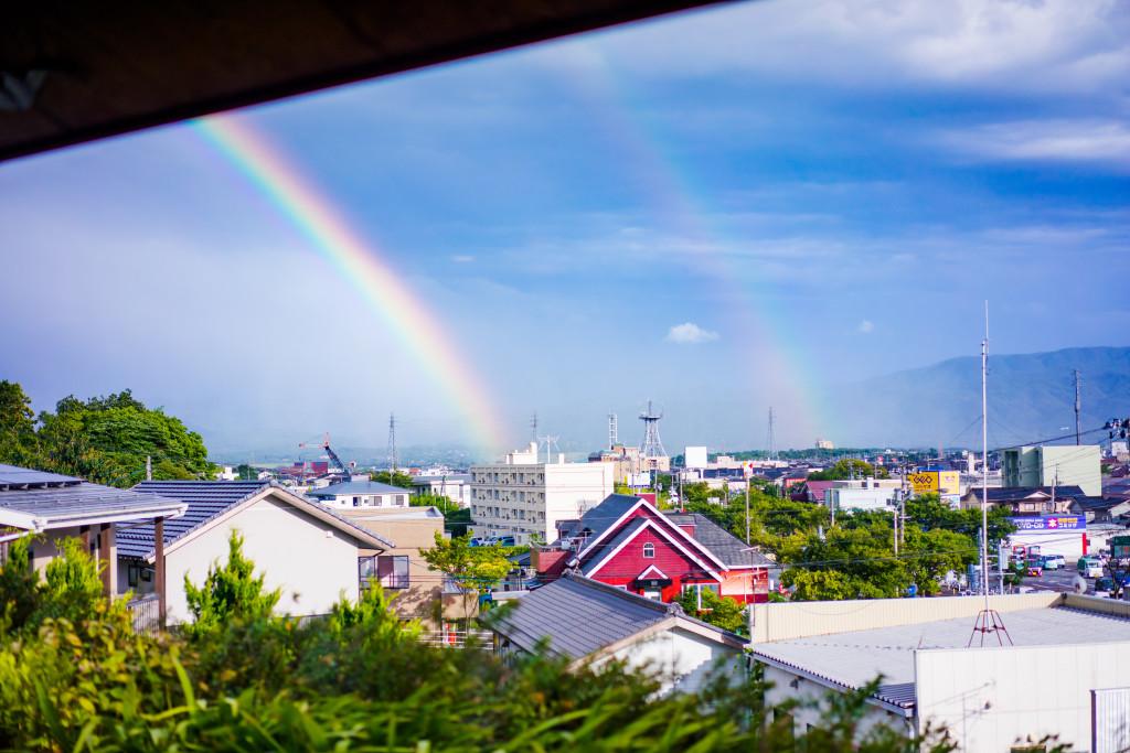 城南窯からの虹