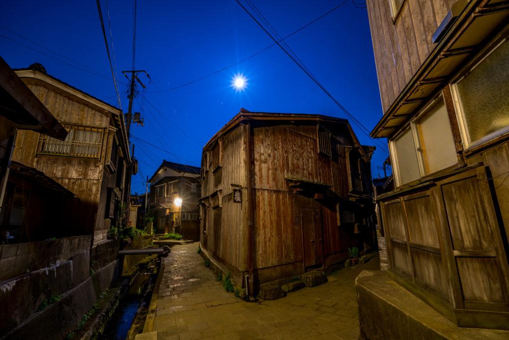 佐渡 宿根木 夜景