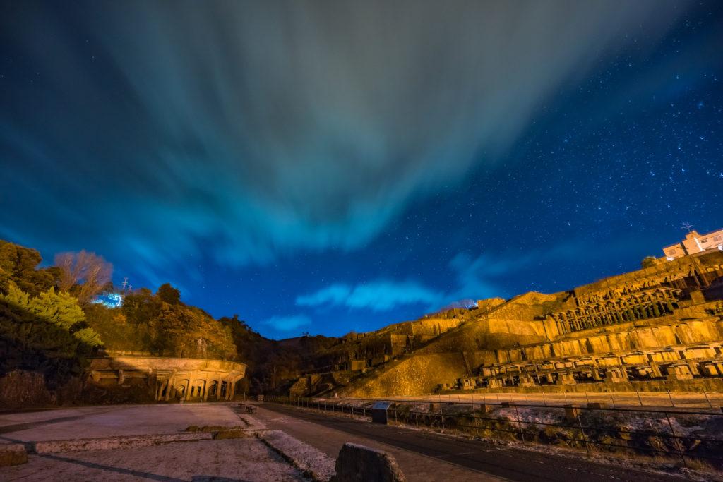 北沢浮遊選鉱場夜景
