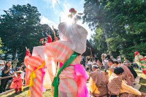 城腰地区の花笠踊