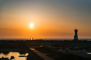 長手岬の夕景